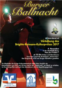 Plakat Burger Ballnacht 2017